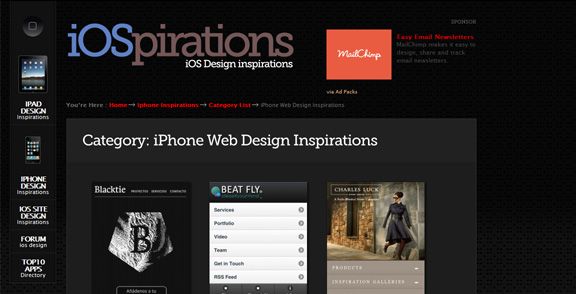 iPhone and iPad Design Inspiration